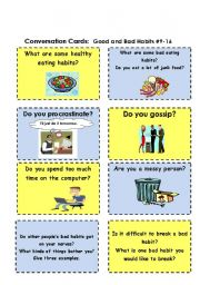 English Exercises: Good and bad habits