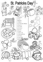 English Worksheet:  St Patricks Day