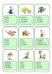 Irregular Verbs Card Game / Part 4