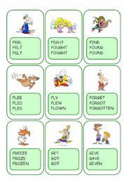 Irregular Verbs Card Game / Part 4