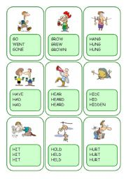 Irregular Verbs Card Game / Part 5