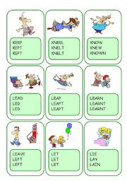 Irregular Verbs Card Game / Part 6