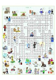 English Worksheet: Jobs crossword 3
