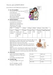 English Worksheets: Question sentences