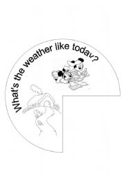 English Worksheets: Weather wheel part 1 of 2