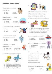 English Worksheets: revison for 8th grades part 1