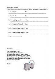 English Worksheets: Guess this animal