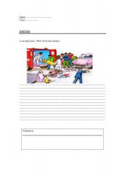 English Worksheets: describe a picture - writing