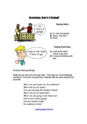 English Worksheets: How is it going?