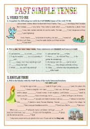 English Worksheet: Past Simple tense (3 pages)