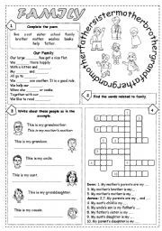 English Worksheets: Family