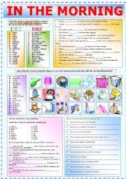 English Worksheet: IN THE MORNING