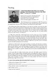 English Worksheets: The King