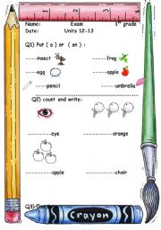 a beautiful worksheet for kids