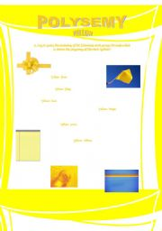 English Worksheet: Polysemy - Yellow