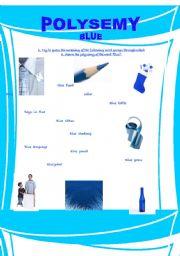 English Worksheet: Polysemy - Blue