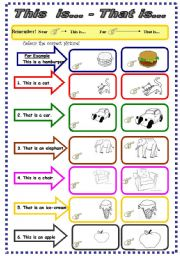 English Worksheet: This is...That is...