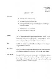 English Worksheets: Jabberwocky