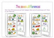 English Worksheet: The seven differences