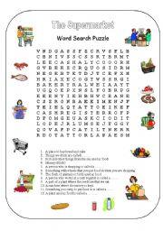 the supermarket word search esl worksheet by mysouldances. Black Bedroom Furniture Sets. Home Design Ideas