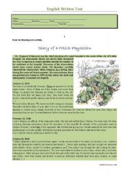 English Worksheets: Test - Diary of a Polish Physician