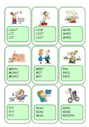 Irregular Verbs Card Game / Part 7