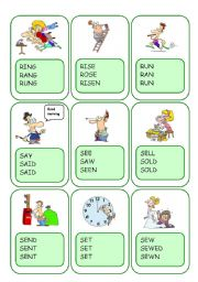 Irregular Verbs Card Game / Part 8