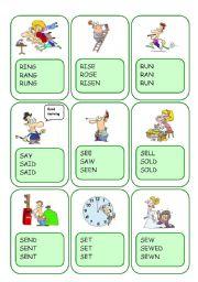 Irregular Verbs Card Game / Part 8