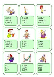 Irregular Verbs Card Game / Part 9
