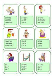 Irregular Verbs Card Game / Part 9