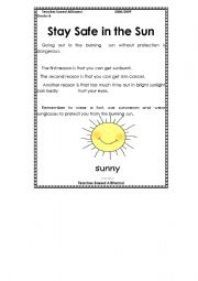 English Worksheets: safe in the sun