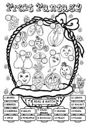 English Worksheet: Fruit Fantasy