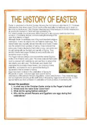 English Worksheet: THE HISTORY OF EASTER