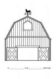 English Worksheets: Barn Worksheet