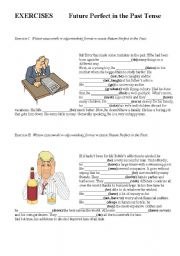 English Worksheet: Future Perfect in the Past