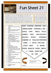 English Worksheets: Fun Sheet 21