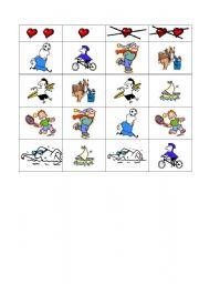 English worksheet: Sports grid