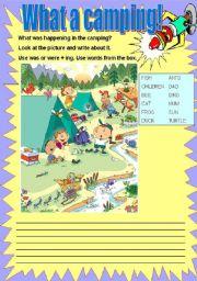 English Worksheet: What a camping!