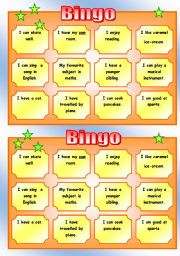 English Worksheet: Get to know each other BINGO