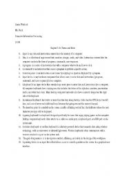 English Worksheets: Chapter 5 & 6 Terms