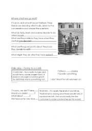 English Worksheet: Where shall we go to eat?
