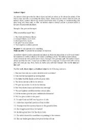 English Worksheets: Indirect objects