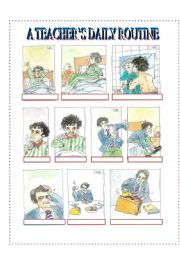 English Worksheets: A Teacher�s Daily Routine