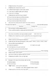 English Worksheet: Windows to trap electricity