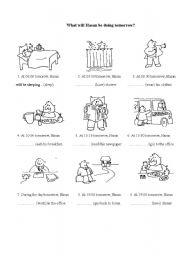 English teaching worksheets: Future continuous/progressive