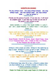 English Worksheet: sms messages