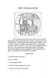 English Worksheets: The Troyan War