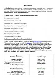 English Worksheets: Qiestion Tags