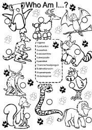 English Worksheets: Animals #2