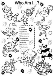English Worksheets: Animals #3